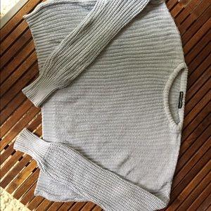 Brandy Melville Crop Light Blue Sweater